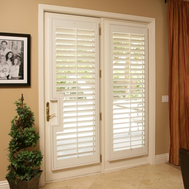 Patio French Door Shutters Boston